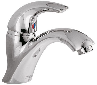Teck Bathroom Sink Faucet with Single Lever Handle and 1-Hole - Polished Chrome, 1.5 GPM