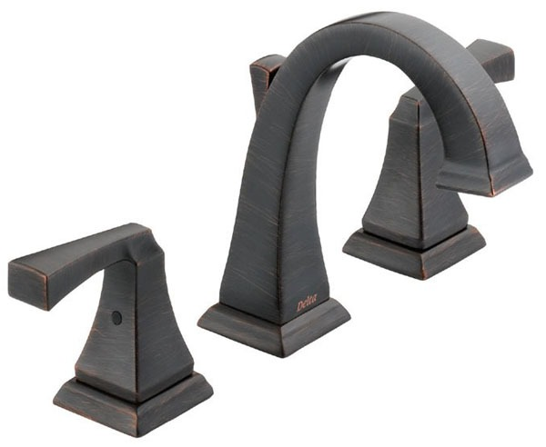 Dryden Bathroom Sink Faucet with Two 1/4 Turn Handle and Metal Pop-Up - Venetian Bronze, 1.2 GPM