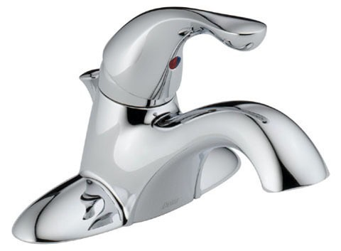 Bathroom Sink Faucet with Rigid Spout & Single Lever Handle - Classic, Chrome Plated, Deck Mount, 1.5 GPM