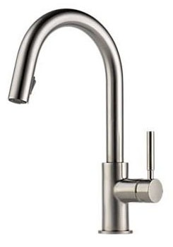 Solna Pull-Down Kitchen Faucet with Single Lever Handle - Brilliance Stainless, 1.8 GPM