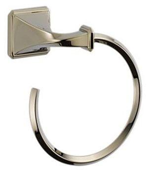 "Brizo Virage 6-5/8"" Towel Ring - Brilliance Polished Nickel"