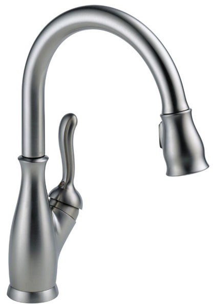 Leland High-Arc Pull-Down Kitchen Faucet with Single Handle - Arctic Stainless, 1.8 GPM