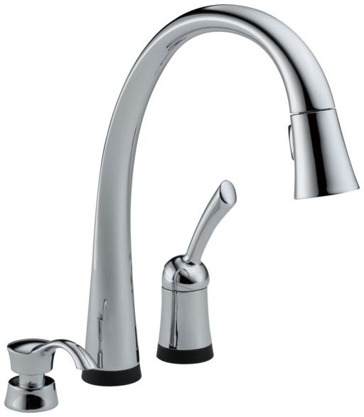 Pilar Single Handle Pull-Down Kitchen Faucet With Touch2O Technology And Soap Dispenser Chrome
