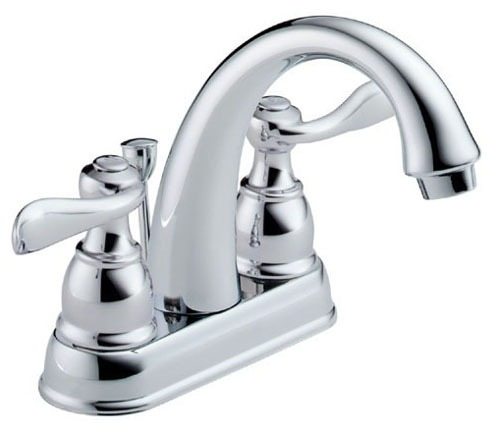 Windemere Bathroom Sink Faucet with Two 1/4 Turn Handle - Chrome Plated, 1.2 GPM