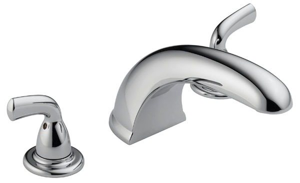 Tub Trim with Rigid Spout & Two Lever Handle - Foundation, Chrome Plated, Concealed Mount