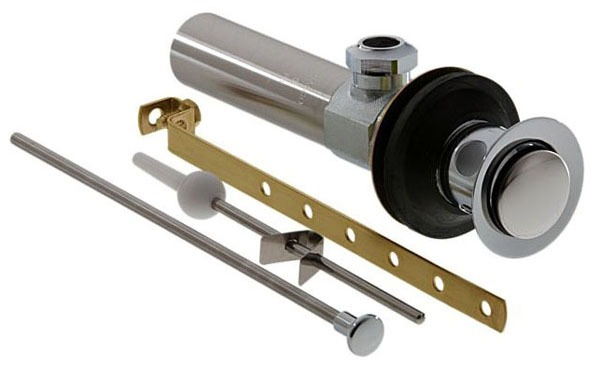 Metal Lavatory Drain Assembly Chrome