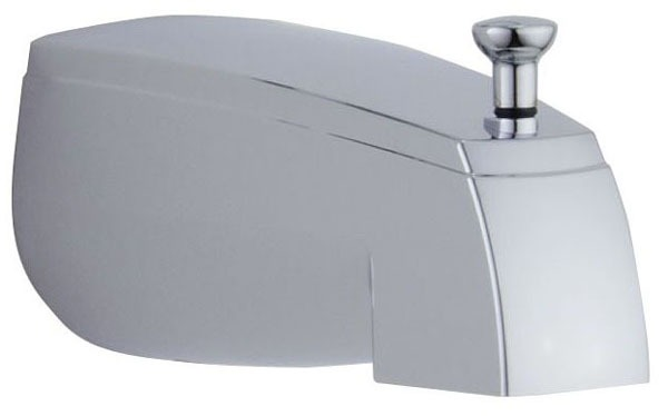 Wall Mount Pull-Up Diverter Tub Spout - Chrome Plated