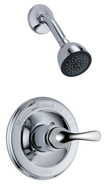 Shower Trim with Single Lever Handle - Classic / Monitor / MultiChoice, Chrome Plated, Wall Mount, 2 GPM