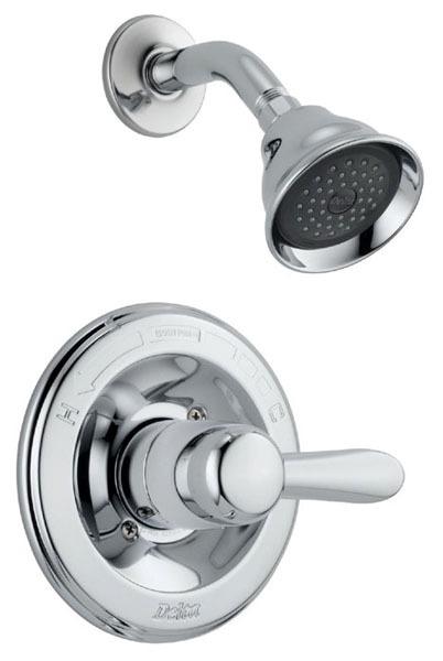 Lahara Shower Trim Kit - Monitor 14, Single Handle, Chrome Plated, 1.75 GPM