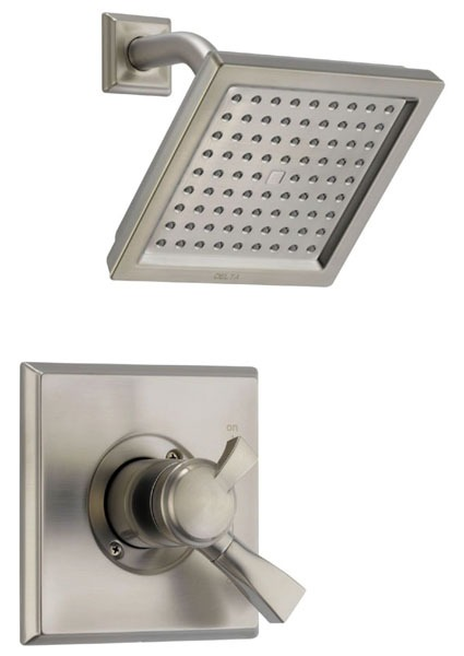 Dryden Shower Trim Kit - Monitor 17, Single Lever Handle, Brilliance Stainless, 2.5 GPM
