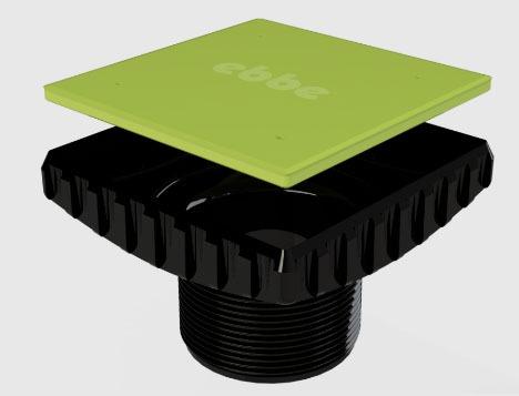 Square Drain Riser, ABS