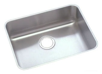 "Elkay Lustertone Stainless Steel 23-1/2"" x 18-1/4"" x 5-3/8"", Single Bowl Undermount ADA Sink"