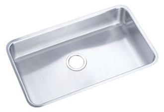 "18 Gauge Stainless Steel 30-1/2"" X 18-1/2"" X 5-3/8"" Lustertone Single Bowl Undermount Kitchen Sink"