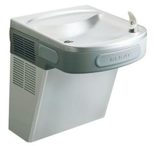"""18-3/8"""" X 19"""" X 19-13/16"""" Stainless Steel Wall Mount Indoor Single Station 8 GPH Water Cooler W/FlexiGuard Safety Bubbler"""