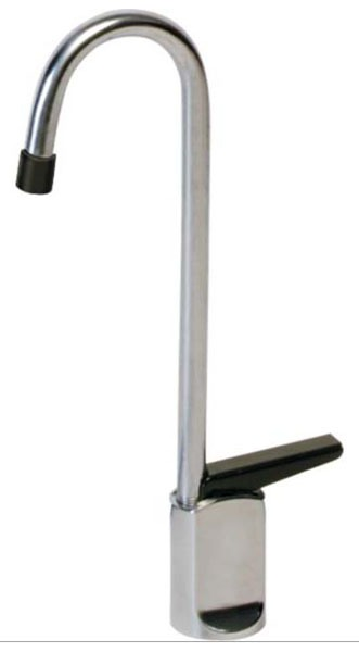 Glass Filler with Gooseneck Spout & Single Lever Handle - Chrome Plated, Deck Mount