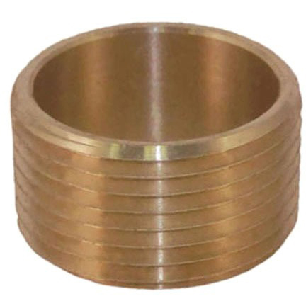 "1/2"" Brass Alloy Male Flush Straight Adapter"