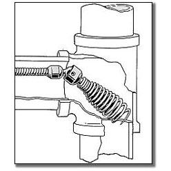 "5/16"" Diameter x 25' Length Reinforced Left Hand Drain Cleaner Machine Drop Head Snake"