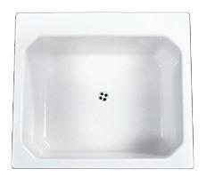 Drop-In Mount Utility Sink White