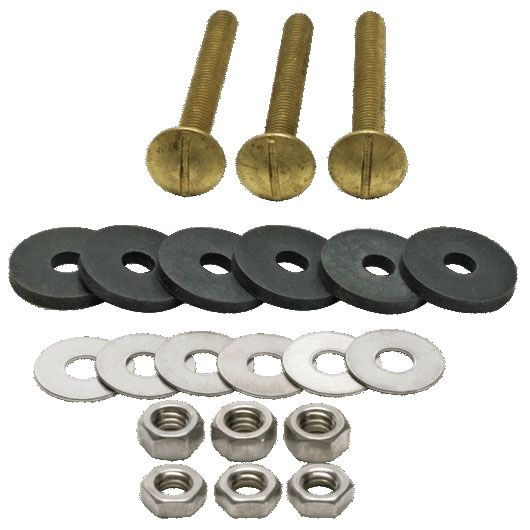 Toilet Tank Bolt Kit Solid Brass