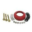 Toilet Tank Bolt and Gasket Kit, Solid Brass/Rubber