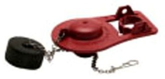 Red Metal Chain Toilet Flapper - Microban