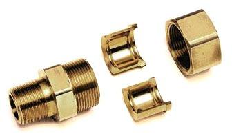 "1/2"" Brass Flare Straight Adapter"