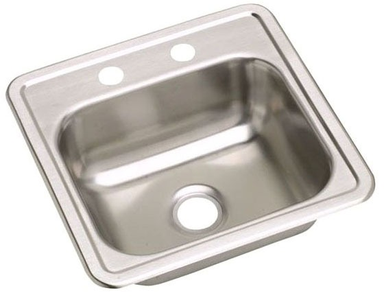 """15"""" X 15""""Bar Sink, Stainless Steel"""