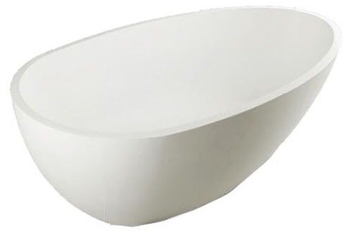 "39"" x 71"" x 21-1/2"" Freestanding Bathtub - Diamond, Matte White"