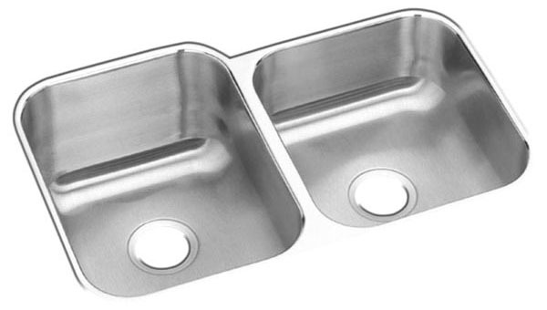 Undermount Double Bowl Sink - Stainless Steel