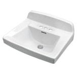 "Monticello II 20-1/4"" X 18-1/2"" Wall Mount Bathroom Sink, Vitreous China White"