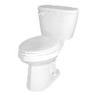 Maxwell, ErgoHeight 1.6 GPF Gravity-Assisted Toilet, Vitreous China White, RH Trip Lever