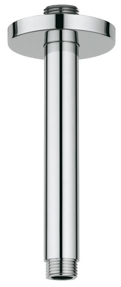 "6"" Rainshower Straight Shower Arm, Chrome Plated"