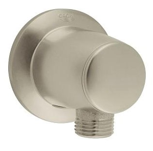 Movario Wall Mount Hand Shower Outlet Elbow, Brushed Nickel