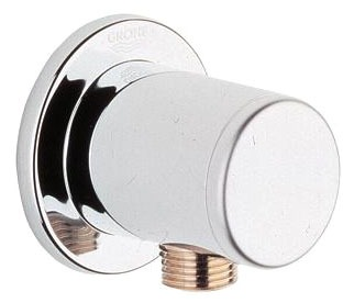 "Hand Shower Wall Mount Union - Relexa, 1/2"", FPT x MPT, Chrome Plated"