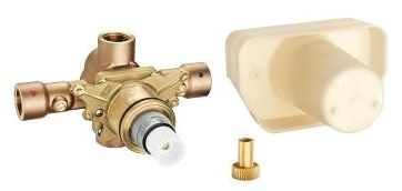 Threaded Thermostatic Rough-In Valve Chrome Plated