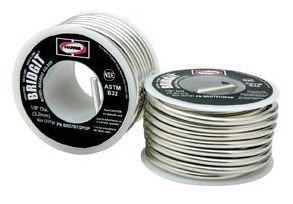 "Solder Wire - Bridgit, 1/8"" Dia, 460 Deg F Solid / 630 Deg F Liquid"