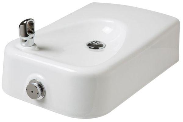 Barrier-free white-enameled iron bowl