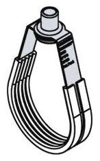 "2"" IPS to 2"" CTS Galvanized Carbon Steel Adjustable / Swivel Loop Hanger - Silencer, 525 psi"