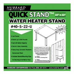 """22"""" Square Unassembled Water Heater Stand, Steel"""