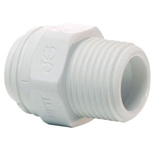 """1/4"""" X 1/4"""" Polypropylene Straight Male Connector"""