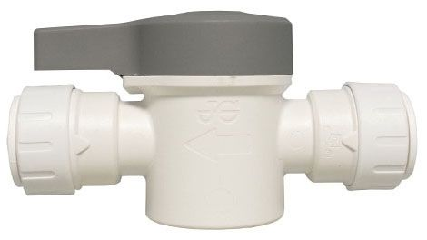 "1/2"", CTS Push-Fit x CTS Push-Fit, 160 PSI, Lead-Free, Plastic, 1/4 Turn Handle, Shut-Off Valve"