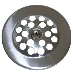 Round Gerber Bathtub Drain Strainer, Chrome Plated