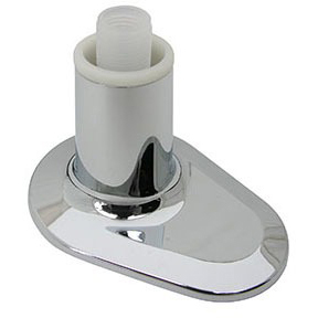 1- Piece Screw Stop Tub and Shower Flange, Chrome plated