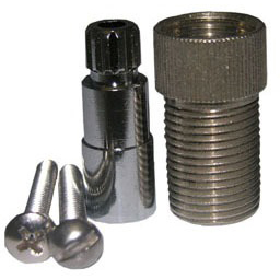 Shower Faucet Stem and Flange Extension, Metal