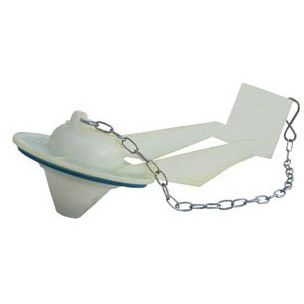 Coast Toilet Flapper and Chain, Plastic