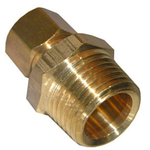 "5/8"" X 3/8"" Compression x Male Threaded Brass Male Reducing Adapter"