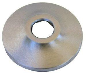 "5/8"" OD Circular 1-Hole Shower Arm Flange - Satin Nickel Brass"