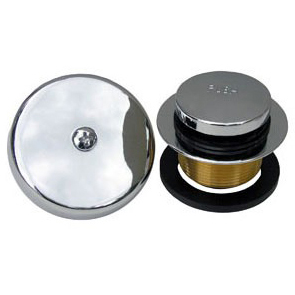 """1-1/4"""" Dia Tub and Shower Drain Strainer Kit - Simpatico, Chrome Plated, Brass"""