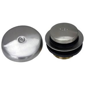 "1-1/4"" Dia Tub and Shower Drain Strainer Kit - Simpatico, Satin Nickel, Brass"