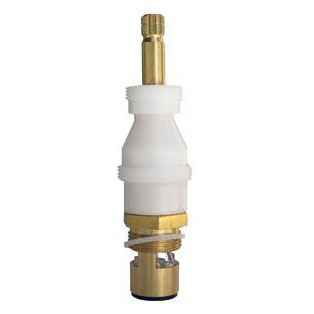 Hot/Cold Tub and Shower Faucet Cartridge, Brass/Ceramic